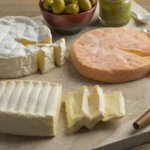 French cheese on a cutting board