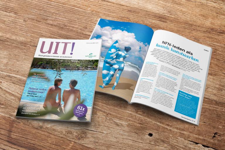 UIT! magazine #4 cover en gekleurd naakt natuurlijk! nfn