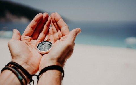 kompas handen blootkompas natuurlijk!
